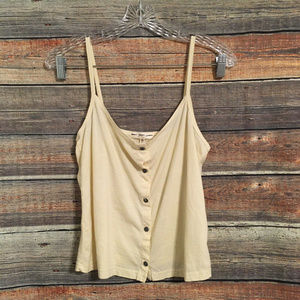 Truly madly deeply button down cami NWOT